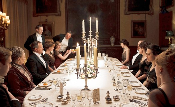IMAGES NOT TO BE USED BEFORE 13TH SEPTEMBER 2011. 2011 DOWNTON ABBEY  SERIES 2 EPISODE2  DOWNTON ABBEY returns for a second series. Pictured: General dinner scene Photographer: NICK BRIGGS This photograph is (C) CARNIVAL FILMS and can only be reproduced for editorial purposes directly in connection with the programme or event mentioned above, or CARNIVAL FILMS. Once made available by ITV plc Picture Desk, this photograph can be reproduced once only up until the transmission [TX] date and no reproduction fee will be charged. Any subsequent usage may incur a fee. This photograph must not be manipulated [excluding basic  cropping] in a manner which alters the visual appearance of the person photographed deemed detrimental or inappropriate by ITV plc Picture Desk.  This photograph must not be syndicated to any other company, publication or website, or permanently archived, without the express written permission of ITV Plc Picture Desk.
