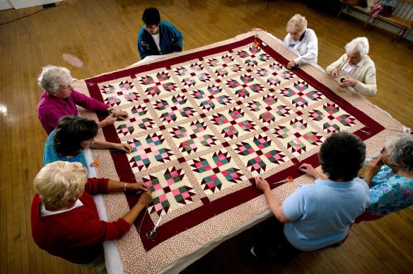 """Photographs for the book """"Teach Yourself Visually: Quilting"""" by Sonja Hakala. (Photo by Geoff Hansen)"""