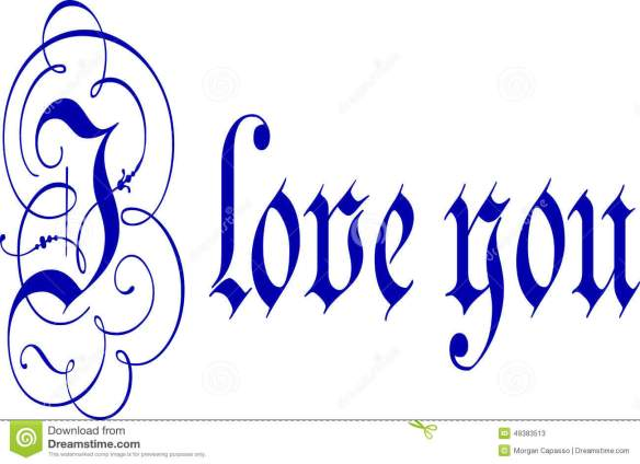 i-love-you-calligraphy-pen-ink-words-written-blue-flourishes-49383513